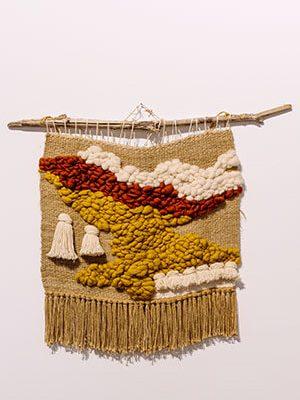 Contemporary ethnic weave artwork by Alina de Laforcade